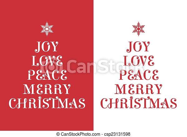 Christmas card, vector - csp23131598