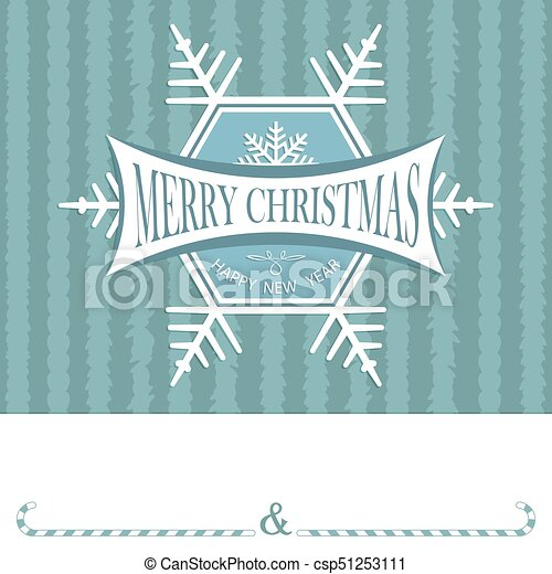 Christmas card with a snowflake - csp51253111