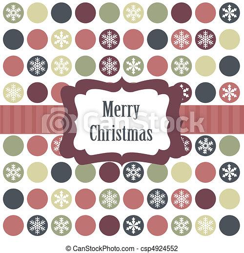 Christmas card with christmas balls - csp4924552