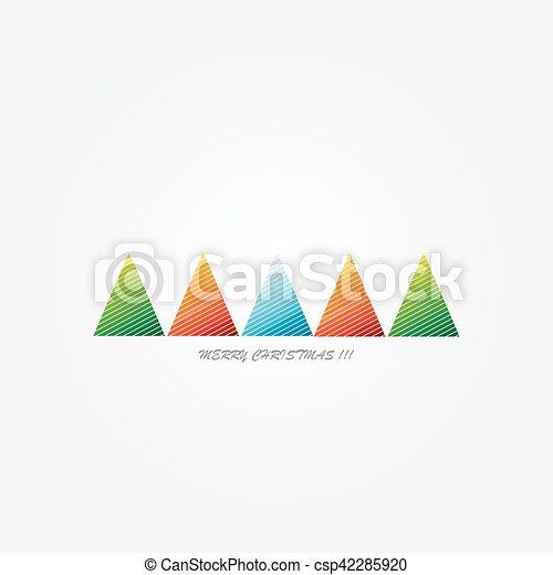 Christmas card with Christmas trees - csp42285920
