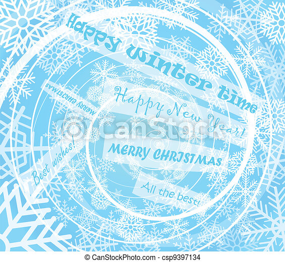 christmas card with greetings - csp9397134