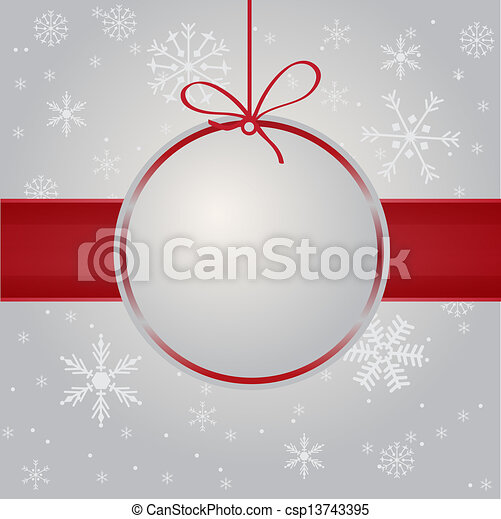 Christmas card with holiday elements. - csp13743395