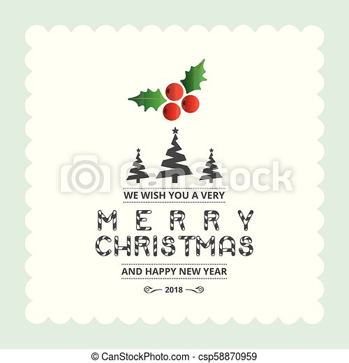 Christmas card with light background - csp58870959
