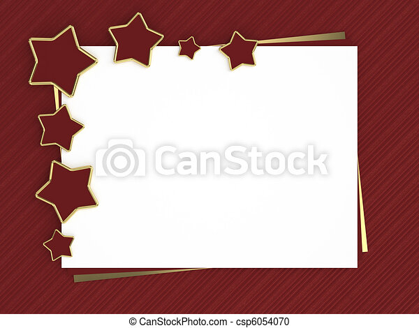 christmas card with red stars - csp6054070
