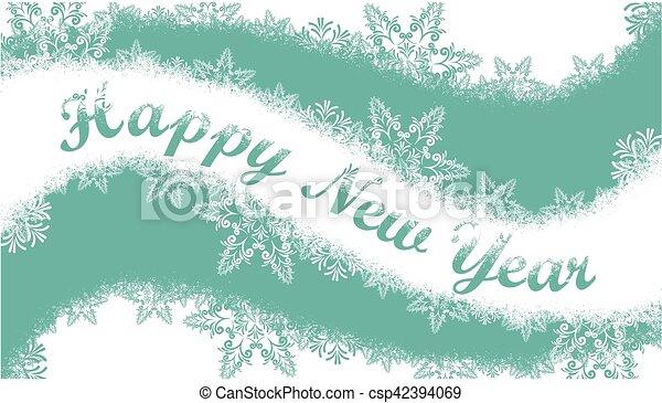 Christmas card with snow. - csp42394069