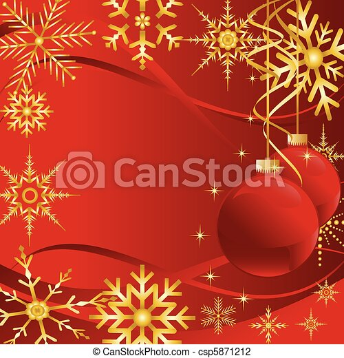 Christmas card with snowflakes - csp5871212