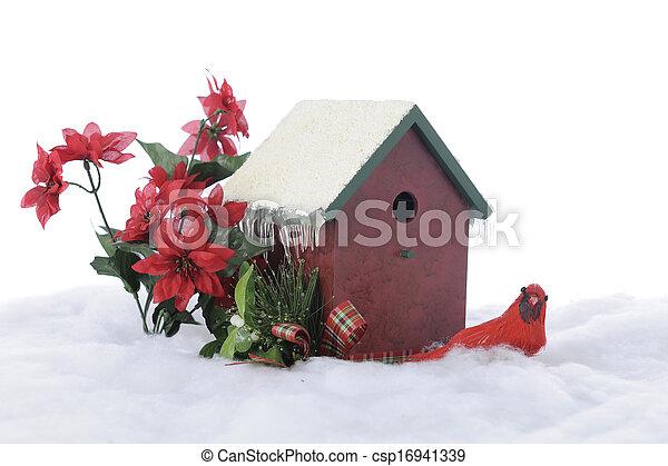 Christmas Cardinal - csp16941339
