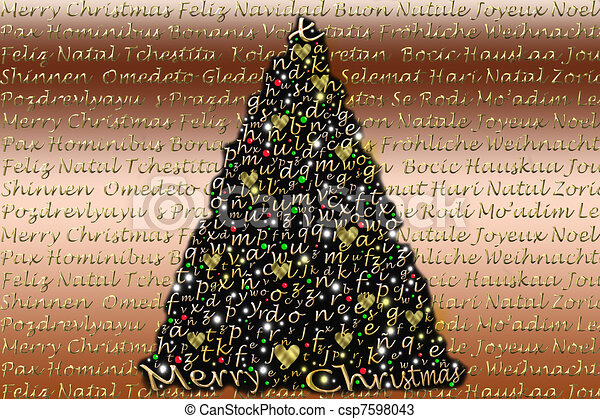 Christmas cards in multiple languages christmas card tree alphabet christmas cards in multiple languages csp7598043 m4hsunfo
