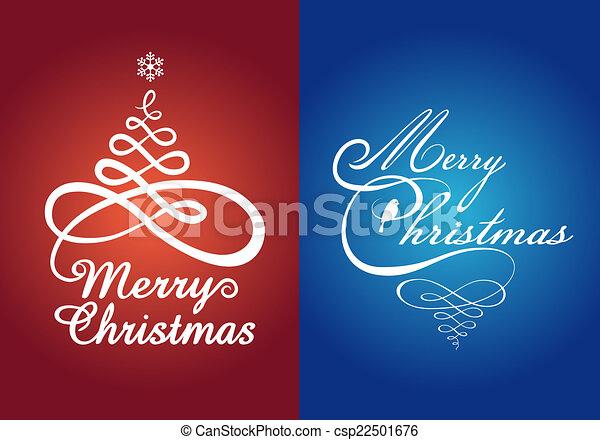 Christmas cards, vector set - csp22501676