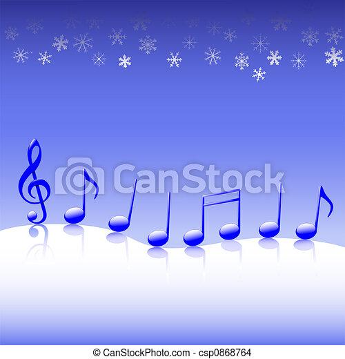 Christmas carol music on snow a winter parade of blue drawing christmas carol music on snow csp0868764 voltagebd Images