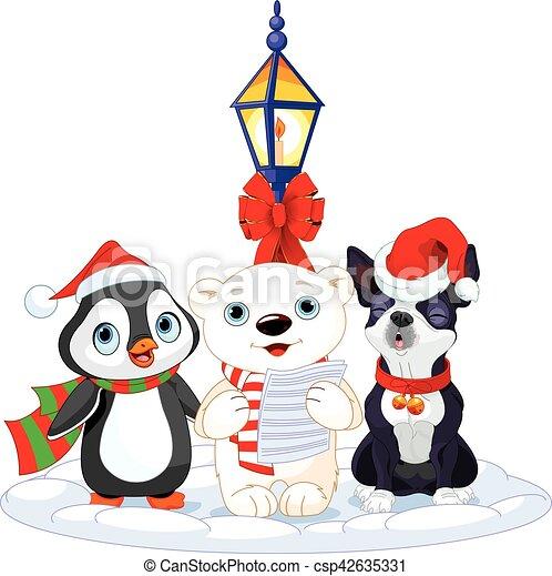 Christmas Carolers - csp42635331