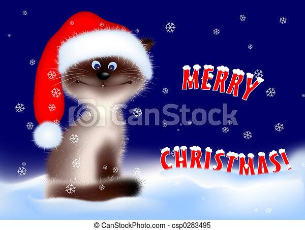 Christmas - Cat - csp0283495