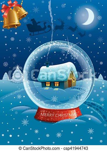 christmas celebration card - csp41944743