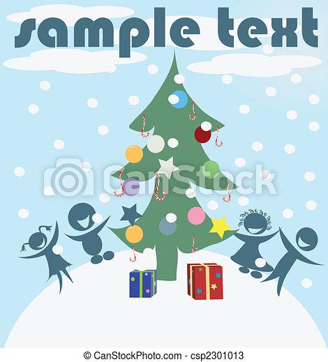 Christmas Celebration Card Vector Art