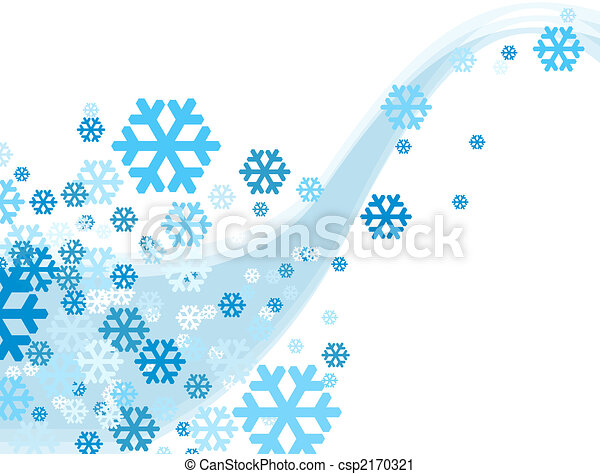 Christmas Celebration Snowflake falling - csp2170321