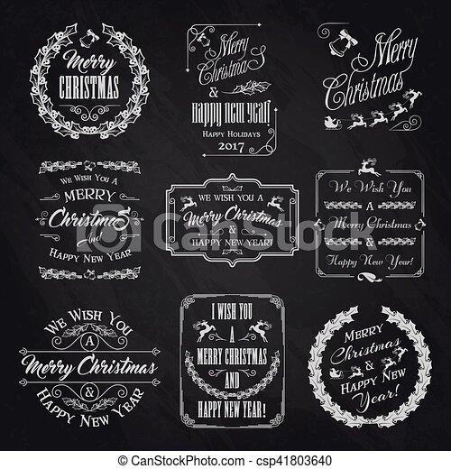 Christmas Chalkboard.Christmas Chalkboard Set