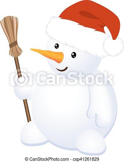 Christmas Cheerful Snowman - csp41261829