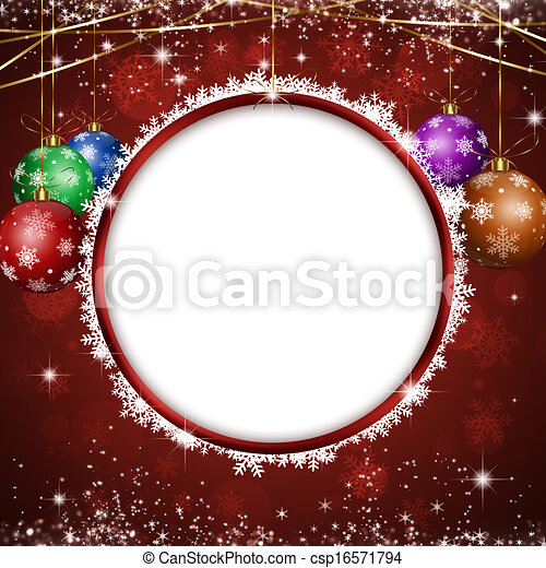 Christmas circle notice. Winter holiday circle notice for christmas ...