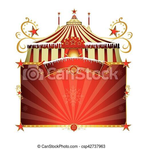 Christmas circus - csp42737963
