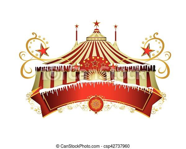 Christmas circus sign - csp42737960