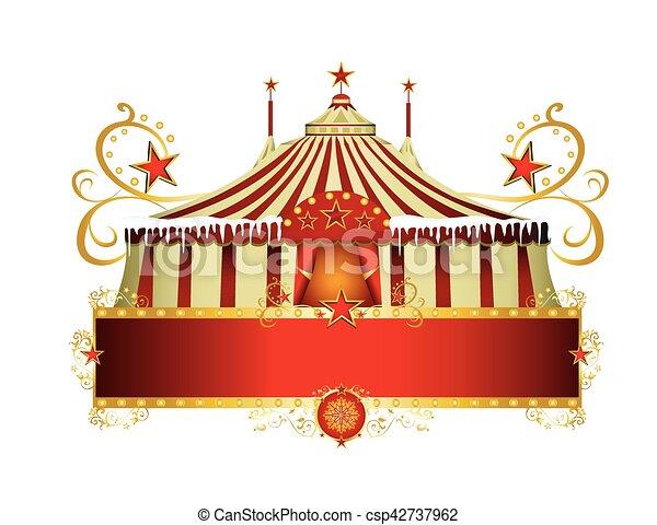 Christmas circus sign - csp42737962