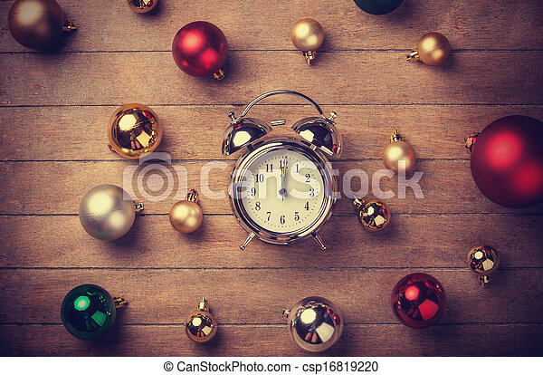 Christmas clock - csp16819220
