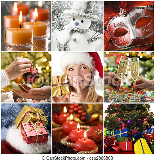 Christmas collage - csp2866803