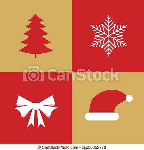 Christmas Holidays Icon.Christmas Collection Of Winter Holidays Icons