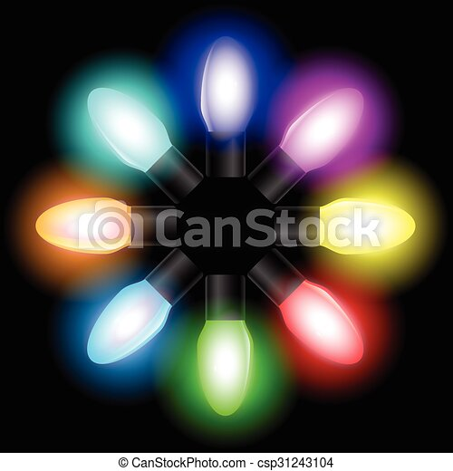 christmas color light bulbs csp31243104