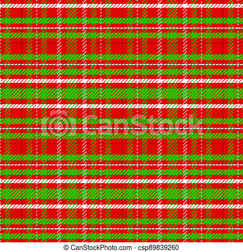 Christmas Color Red Green White Plaid Background Illustration - csp89839260
