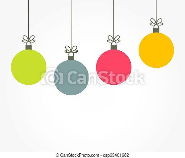 Christmas Ornaments Vector.Christmas Colorful Balls Hanging Ornaments