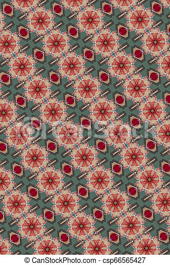 Christmas colorful pattern decoration - csp66565427