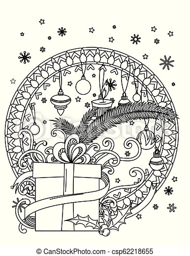 christmas coloring page csp62218655
