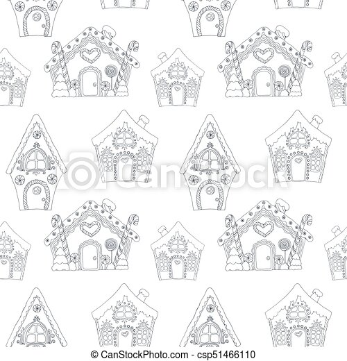 christmas coloring pages pattern csp51466110