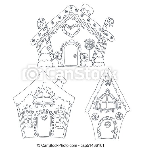 Christmas coloring pages - csp51466101