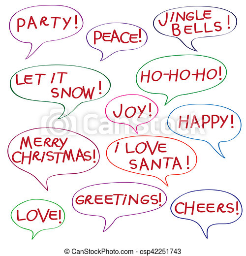 Christmas comics bold text comics speech bubbles with christmas christmas comics bold text csp42251743 m4hsunfo