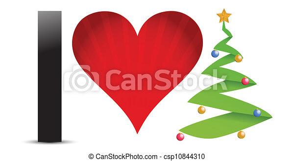 I Love Christmas.Christmas Concept I Love Christmas