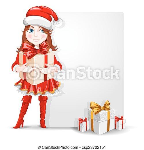 Christmas congratulation - csp23702151