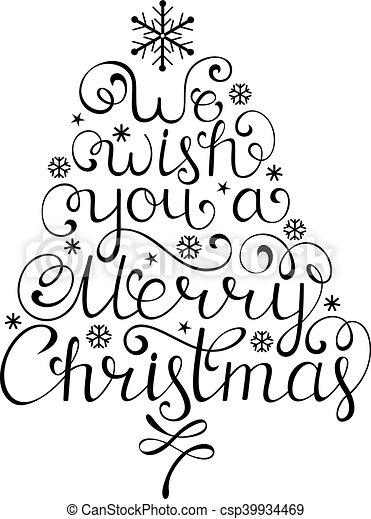 Christmas congratulation on white background - csp39934469