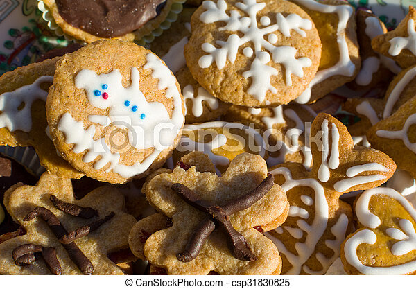 Christmas Cookies Closeup