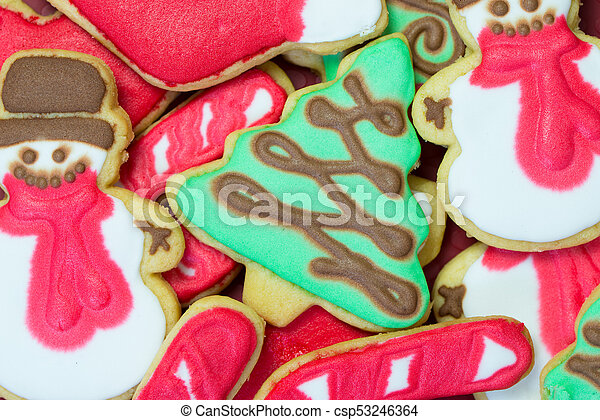Christmas Cookies Decorated With Royal Icing