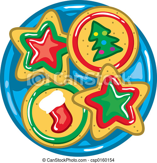 christmas cookies vibrant and colorful illustration of christmas rh canstockphoto com christmas cookies clipart border christmas cookie clip art free printable