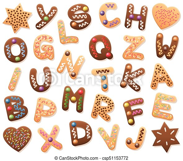 Christmas Cookies Letters Alphabet Letters Loosely