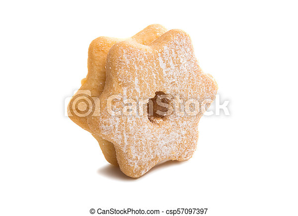 Christmas cookies sandwiches isolated - csp57097397