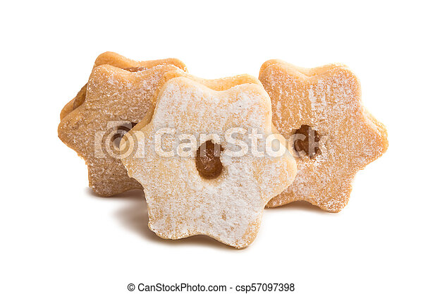 Christmas cookies sandwiches isolated - csp57097398