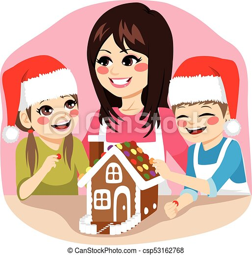 Christmas Cooking Family - csp53162768