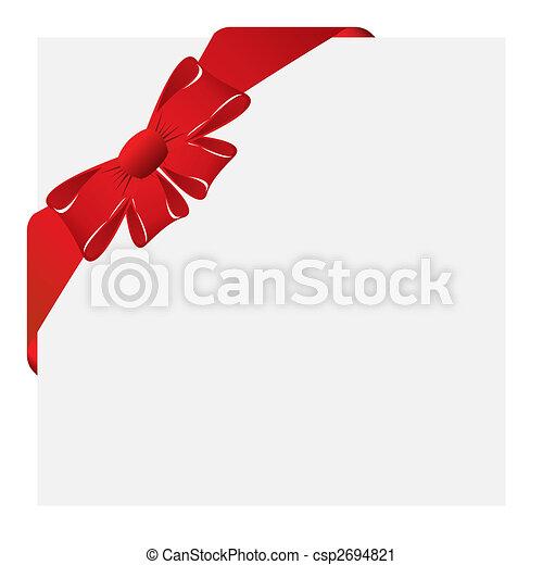 christmas corner label - csp2694821