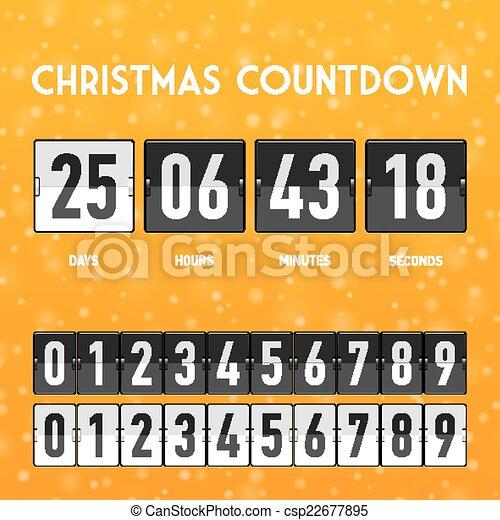 christmas countdown timer csp22677895