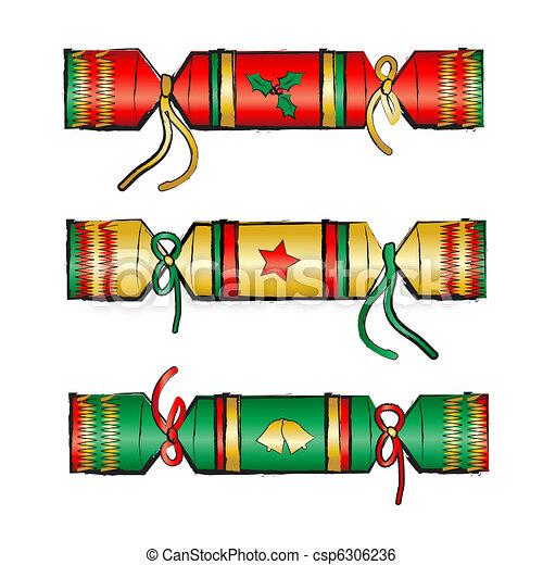 Christmas Cracker Clipart.Christmas Cracker
