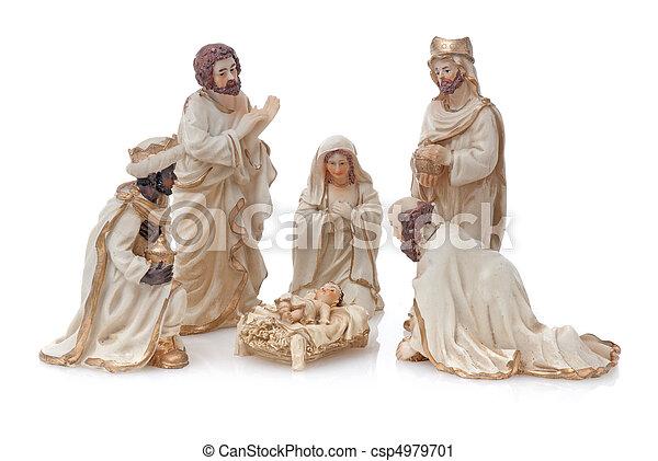 Christmas Crib - csp4979701